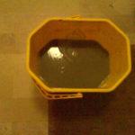 Acqua sporca dopo la pulizia della moquette