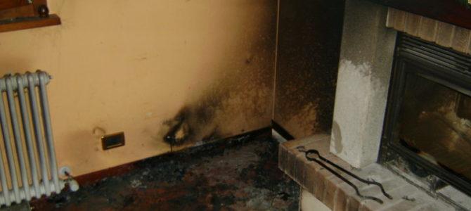 Pulizia muri a seguito incendio