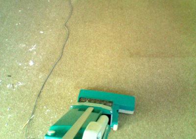 pulizia moquette con aspirapolvere prima e dopo