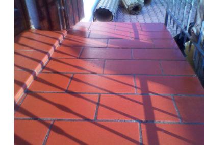 ceratura pavimento in cotto esterno