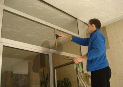 lavaggio vetri portone d ingressoo