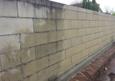muro esterno abitazione confronto sporco e pulito