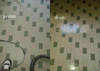 pavimenbto in gres porcellanato prima e dopo il trattamento