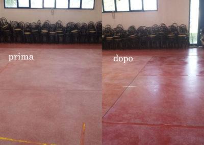pavimento in cemento dopo il trattamento