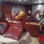 Pulizia interni di una barca eseguita da Pulicasa